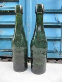 Oude bierfles groen F&R de Keyn Brasseurs Leefdael