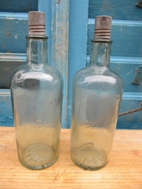 Antieke fles van Dralle Birkenwasser met dop circa 1915