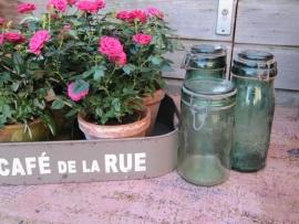 Oude Franse inmaak- of voorraadpot met beugel van L`Ideale
