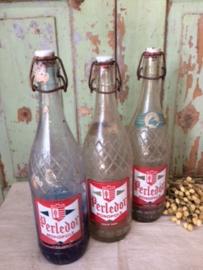Oude Limonade flessen Perledor. Set van 3 stuks