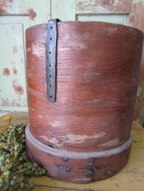 Antieke Franse houten graanemmer