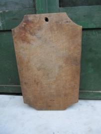 Oude brocante snijplank rechthoekig