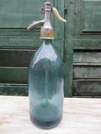 Oude spuitfles helder Blauw