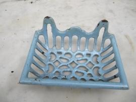 Antiek metalen geemailleerd zeepbakje