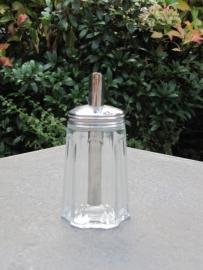 Glazen schenksuikerpot klein model
