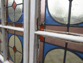 Antiek glas in lood raam Art Deco