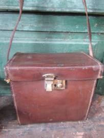 Oude leren tas/koffer