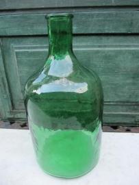 Brocante groene fles van 5 liter