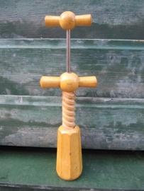 Cute wooden corkscrew