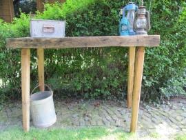 Antieke side table met dik blad