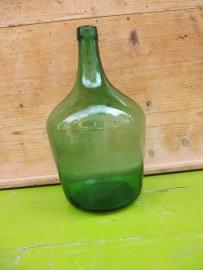 Oude groene fles