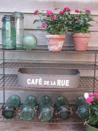 Oude Franse beugel inmaak potten lichtgroen La Lorainne