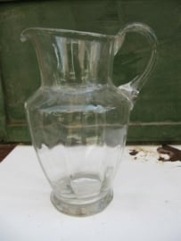 Mooie heldere oude brocante water- of wijnkan small