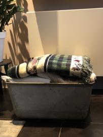 Oude zinken wasbak/teil