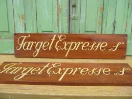 """Scheepsnaambord """" Target Expresse"""""""