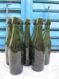 Oude Belgische bierfles