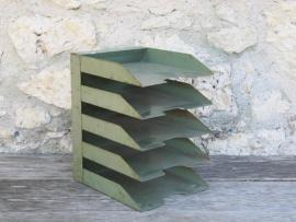 Frans oud industrieel metalen brievenbakje