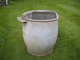 Oude Engelse dolly-tub zinkwasteil