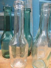 Set van 5 oude kleine medicijn flesjes.