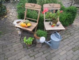Oude perfect gave Franse klapstoeltjes (voor in de tuin) set van 4 stuks