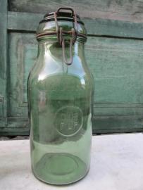 Brocante inmaak pot van Durfor 1,5 liter