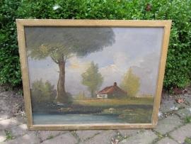 Oud schilderij in olieverf