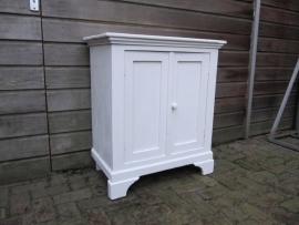 Wit Frans houten Brocante kastje