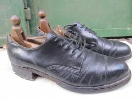 Brocante lederen schoenen met spanners