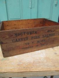 Oude houten kist uit Antwerpen