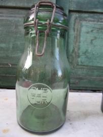 Brocante inmaak pot van Durfor 1 liter