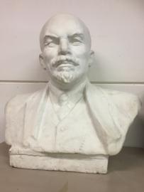 Antiek groot gipsen borstbeeld van Lenin