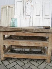 Antiek houten (slagers)hakblok