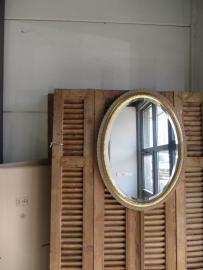 Brocante ovale spiegel