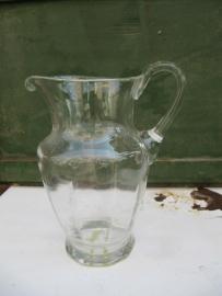 Mooie heldere oude brocante waterkan medium