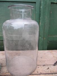 Mooie brocante glazen pot of bokaal