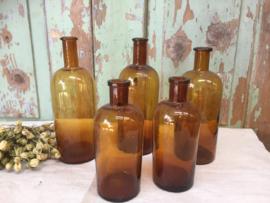 Set bruine flesjes