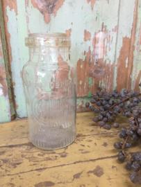 Oud Glazen mosterd glas