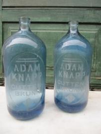 Hele leuke oude blauwe fles voor soda-syphon