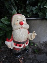 Vintage aardewerk kerstman