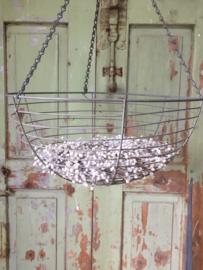 Brocante verzinkte hanging basket