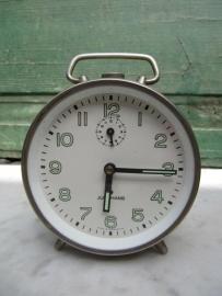Oude wekker zilver Junghans