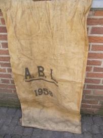 Oude jute zak uit het Belgische leger 1958