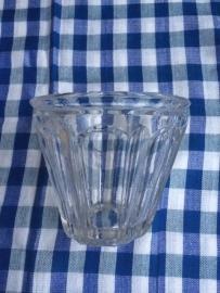 Antieke Franse jampot van glas laag