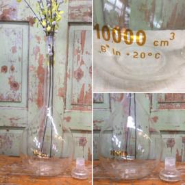 Old glass laboratory bottle 10 liters