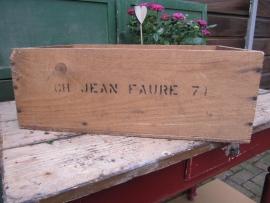 Brocante wijnkistje Chateau Jean Faure