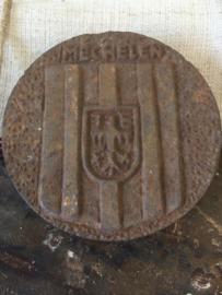 Set gietijzeren plaquette uit Belgie