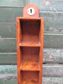 Brocante houten speelkaarten houder