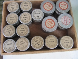 Brocante oude 38 mm biologie filmpjes per 4 stuks