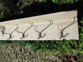 Antieke Franse kapstok met hoedenplank