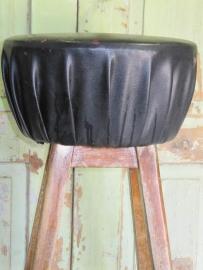 Brocante oude houten barkruk